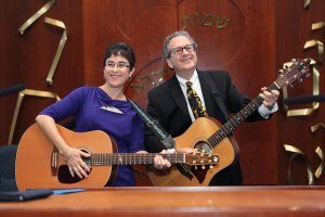 Musical soloists Rob and Rachel Temple B'nai Shalom